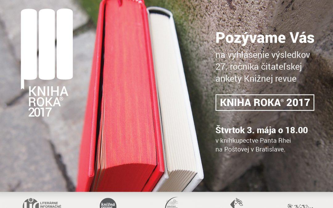 Kniha roka 2017 – pozvánka